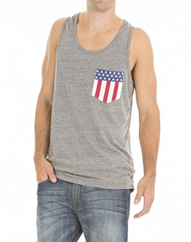 Men's Auburn University American Flag Pocket Tank - University Tigers Pocket