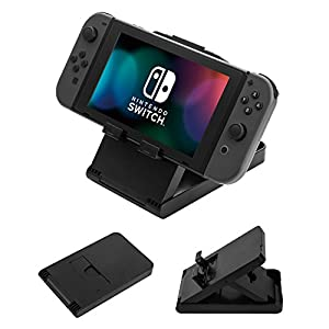 UZOPI Compact Playstand Desktop Display Stand For Nintendo Switch NS Game Console Charging Dock Holder Adjustable Angle Foldable Mount Base Bracket Accessories