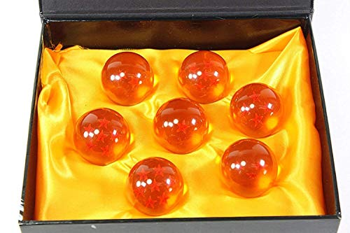DLD New Dragonball Z Stars Crystal Glass Ball 7pcs with Gift Box, Large 42MM in Diameter -