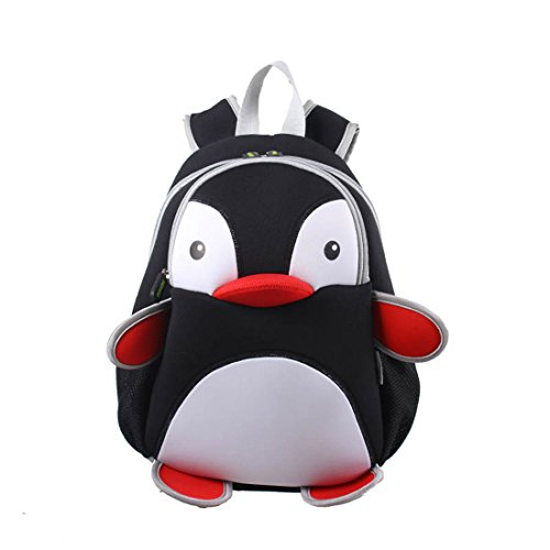Kids penguin Backpack 3D Cute Zoo Cartoon School Boys Girls Bag