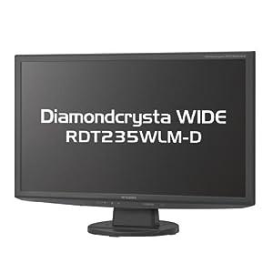 MITSUBISHI 23型ワイド液晶ディスプレイ(ノングレア) フルHD ブラック RDT235WLM-D