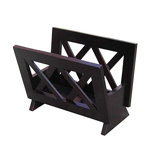 Frenchi Home Furnishing Contemporary  Magazine Rack, Black (Home Magazine Furniture)