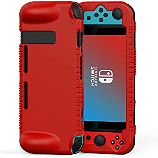 Semeving Compatible with Nintendo Switch Case,Soft Silicone Protective Cover Case Compatible with Nintendo Switch, Shock-Absorption & Anti-Scratch (Red)