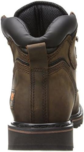 Timberland PRO - - Chaussure de sécurité Pit Boss en Acier pour Homme, 6 po, 44.5 EU, Dark Brown