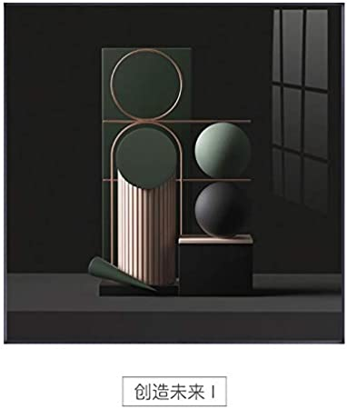 Impresión de lienzo Póster de lienzo abstracto geométrico con astronauta creativo de Nodic, cuadro artístico impreso, imágenes de pared para la decoración del hogar del dormio de la sala de estar