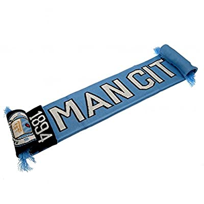 Club Licensed Man City Nero Scarf - Sky/navy - One Size
