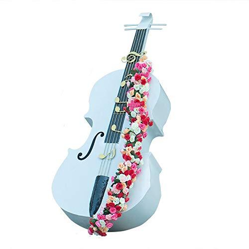 YonCog Creative Simulation Musical Instrument Cello Outdoor Garden Metal Flower Stand Wedding Garden Decoration…