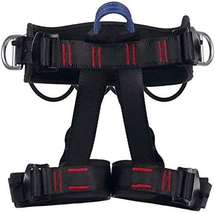 クライミングハーネス、安全シートベルトプロロッククライミングラペリング装備プロテクトレッグウエストワイドセーフティハーネス、パッド入り登山用、ツリークライミング、ファイアレスキュー