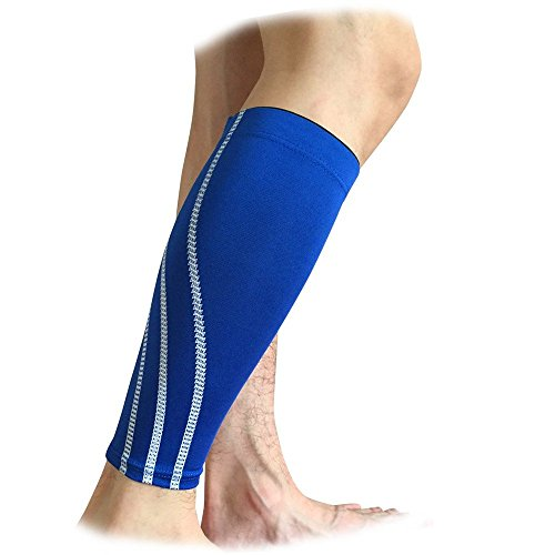 Miss-Moly Sports Leg Support Stretch Sleeve Compression Socks Running Exercise (Signle)