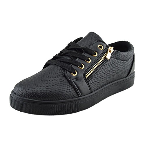 Formatori Footwear Coccodrillo Nero Grosso Look Unica Donna Scarpe Skater Piattaforma Pizzo Kick UwBg6qB
