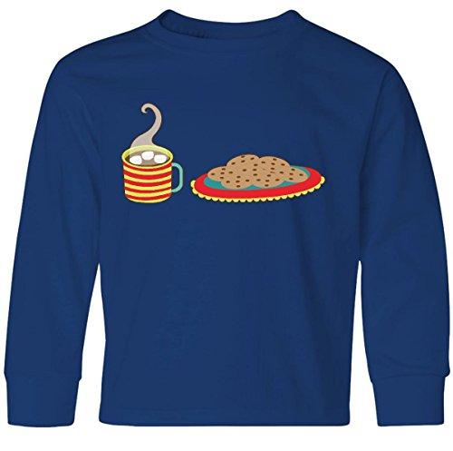 811 Cocoa (Inktastic Big Boys' Cookies And Hot Cocoa Youth Long Sleeve T-Shirt Youth Medium Royal)