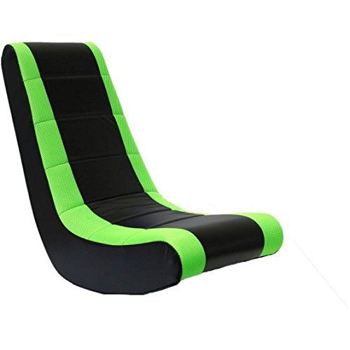 Crew Furniture Video Rocker Watch Movies in Comfort, While Lounging in This Economical Video Rocker Chair (Black/Neon Green, Set of 2)
