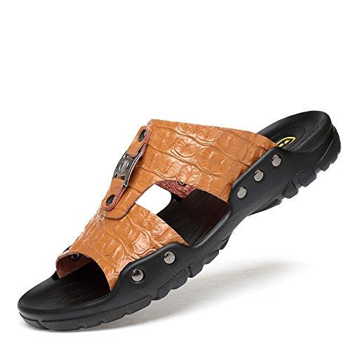 Xing Lin Sandalias De Hombre Zapatillas De Gran Tamaño 50 Hombres De Verano Al Aire Libre, Además De Fertilizante 47 Flip Flops Zapatillas Blancas 48 45 49 Inicio Xl 46 brown