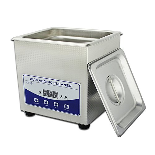 1.3L Professional Digital Ultrasonic Cleaner Machine with Timer Heated Stainless steel Cleaning tank 110V 220V by Jiuzhoutongshang