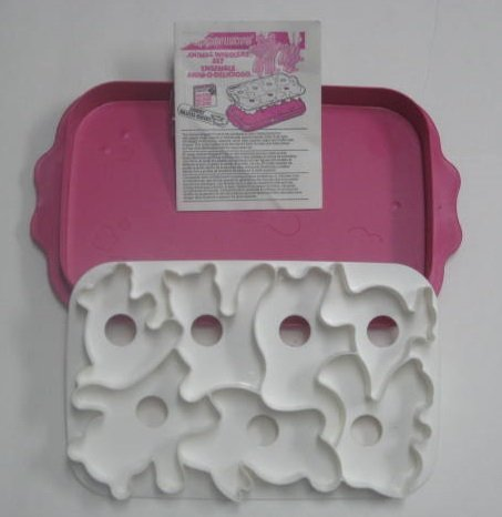 Tupperware # 2553 Jello Jigglers 2 PC Rosa y Blanco Animal Wigglers postre molde Set: Amazon.es: Hogar