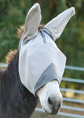 Cashel Crusader Standard Mule Donkey Fly Mask with Ears, Weanling (Mule Saddle Trail)