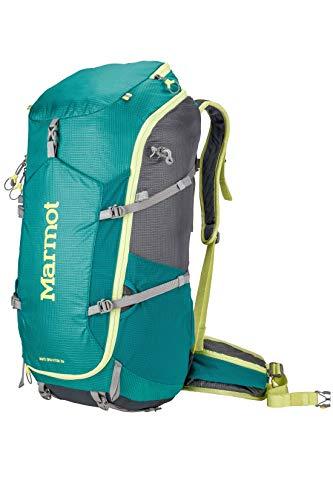 Marmot Women's Graviton 36 Lightweight Hiking Backpack, Gem Green/Cinder