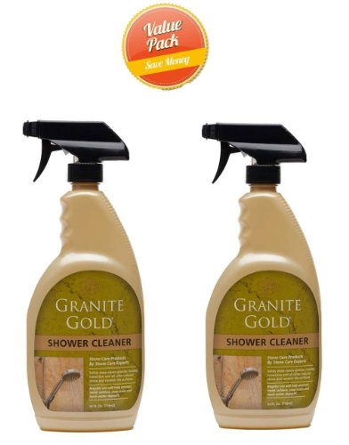 Natural Gold Cleaner - Granite Gold Shower Cleaner, 24 oz-2 pk