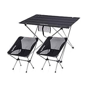 JQMKKZZ Barbacoa for picnic Mesa y sillas plegables, mesa y ...