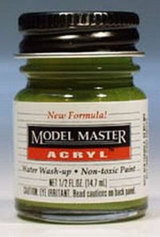 - Interior Green Testors Acrylic Plastic Model Paint