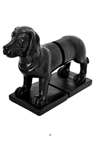 American Chateau Set 2 Large Black Resin Dog Head & Tail Labrador Book Ends ()