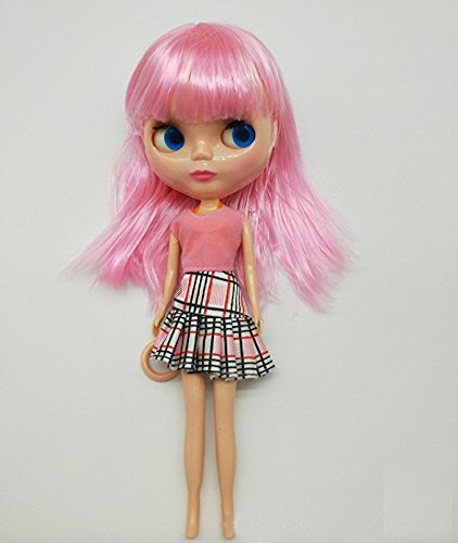 Dollshow 12inch Posable Big Head Doll 30CM BJD Dress-up Girl Toys Collections Kids Gifts 4 Color Change Eyes