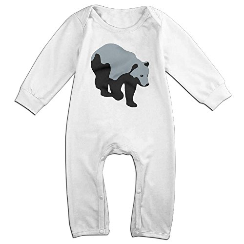 (Zhu Bajie Soft Brown Bear,Honey,Rocky Mountains Bear 092012 A 3c Long-Sleeve Jumpsuit Playsuit Outfits For Infant Baby White 6 M )