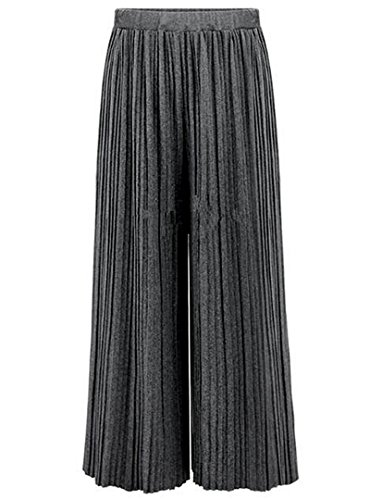Pleated Blouse & High Waist Pants - 9