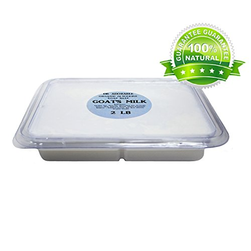 (2 Lb Tray GOATS MILK Glycerin Melt & Pour Soap Base Organic)