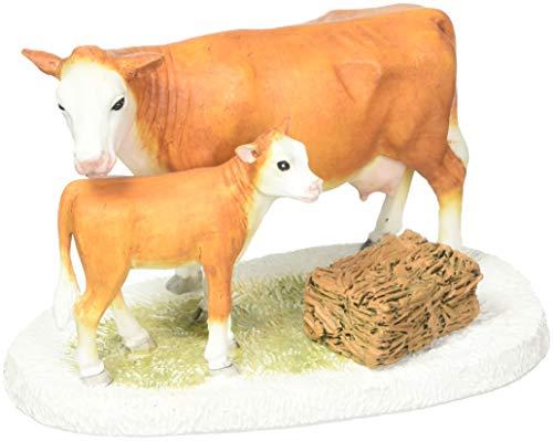 ent 56 Collections Mistletoe Farm Cow and Calf Figurine Village Accessory Multicolor ()