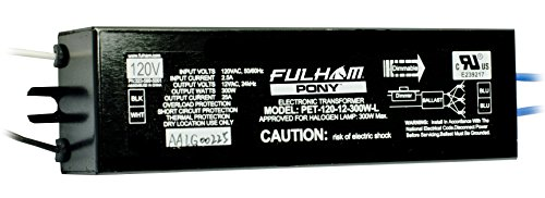 Fulham PET-120-12300WL PONY Electronic Transformer, 300W Linear