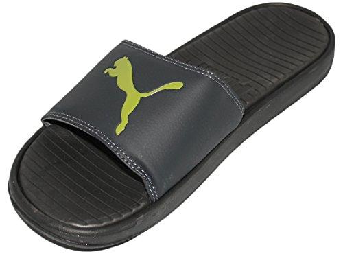 Puma Heren Popcat Slide Sandaal Medium Grijs