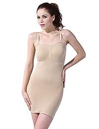 Franato Women's Shapewear Strapless Full Control Slip Bodyshaper Dress