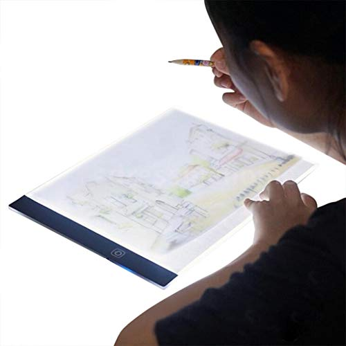 LED A5 Painting Board Light Tracing Board -3 Gears Adjustable Dimming Light for Tattoo Sketch Diamond Painting Stenciling Sketching Drawing-Deliver Within 7 Days