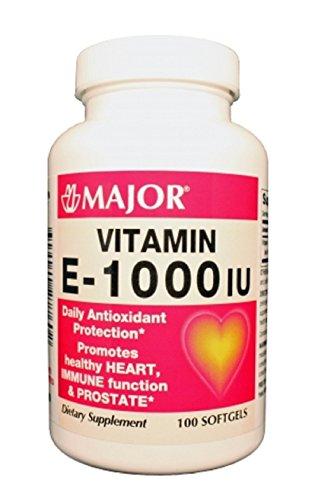 Major Pharmaceuticals MAJOR E 1000 IU SYN CAPS VITAMIN E-...