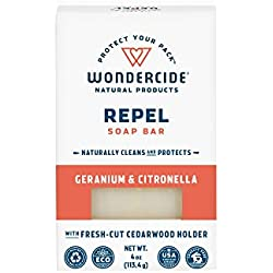 Wondercide Natural Repel Soap Bar for Kids & Family - Citronella & Geranium - 4oz Bar