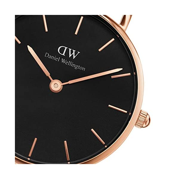 Daniel Wellington Petite Melrose, orologio da donna, 28 mm, in mesh, colore: oro rosa 4