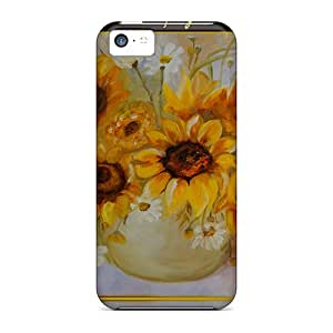 RoccoAnderson Design High Quality Sunflower Pot Covers Cases With Excellent Style For Iphone 5c