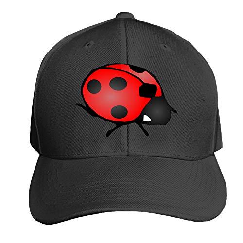 Peaked hat Ladybug Beetle Red Black Wings Ladybird Adjustable Sandwich Baseball Cap Cotton Snapback