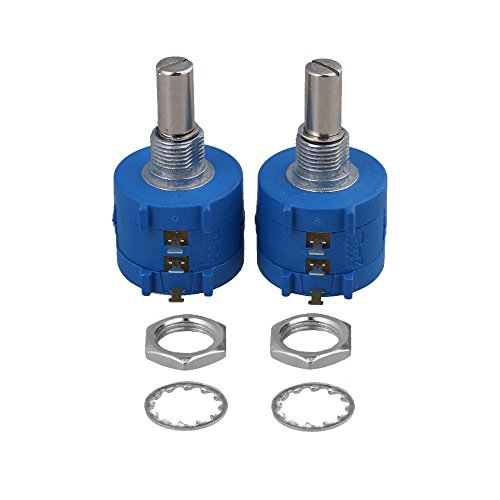 BQLZR 3590S-2-103L 10K Ohm 10-Turn Rotary Wire Wound Precision Potentiometer Pot Pack Of 2
