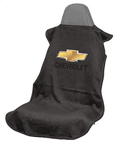 Seat Armour SA100CHVB Black 'Chevrolet' Seat Protector Towel