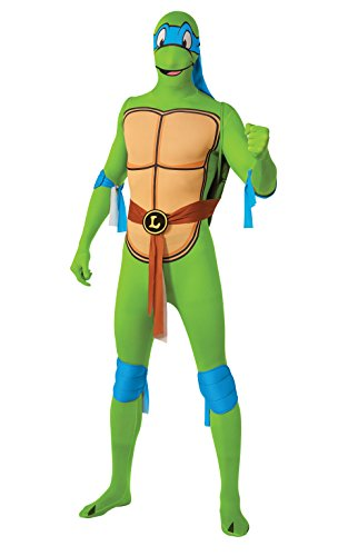 [Rubie's Costume Men's Leonardo 2Nd Skin Adult Costume with Removable Shell, Multi, Medium] (Cartoons Characters Costumes)