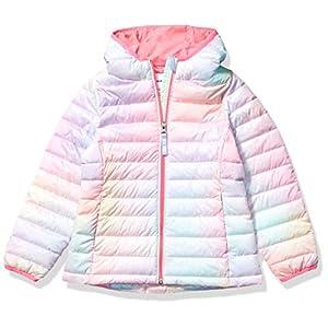 Amazon Essentials Girl's Lightweight Water-Resistant Packable Hooded Puffer Jacket