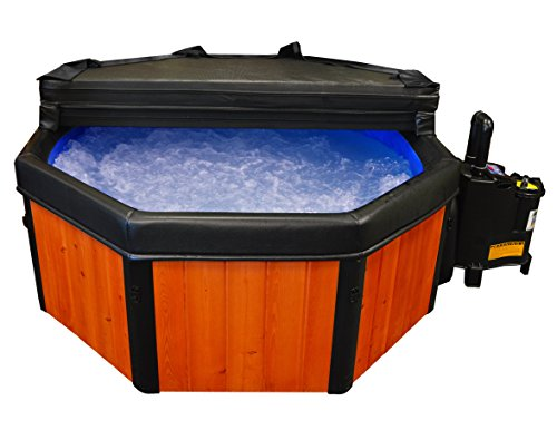 Spa-N-A-Box Real Wood (Florida Cypress w/ Redwood Stain) Deluxe Edition 110V 6' Portable Spa with Locking Hard Cover
