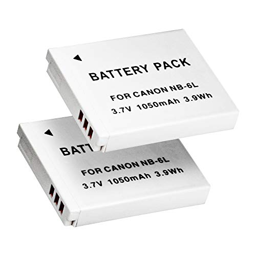 PHOTO MASTER 2-Pack NB-6L NB-6LH High Capacity Replacement Battery for Canon Powershot SX530 HS SX520 HS SX710 HS SX700