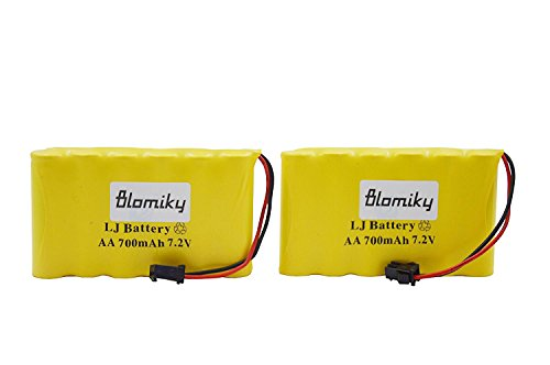 700mAh Ni-Cd Rechargeable AA Battery Pack SM 2P Plug for 15 Channel 2.4G Huina 1550 550 RC Excavator 7.2V 700mAh Yellow 2 ()