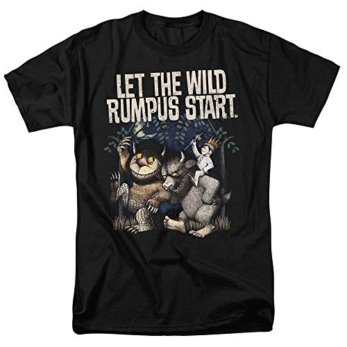 Where The Wild Things are Wild Rumpus T Shirt & Stickers (Small) Black (Where Are All T)