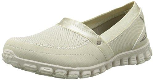 Skechers Women's Easy Flex Loafers Natural Mesh/Dura Buck/Brown Trim QgJ207gEd