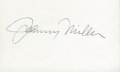Johnny Miller Autographed Golf 3x5 Inch Index Card - 1973 U.S. Open Champion - 1976 The Open Championship