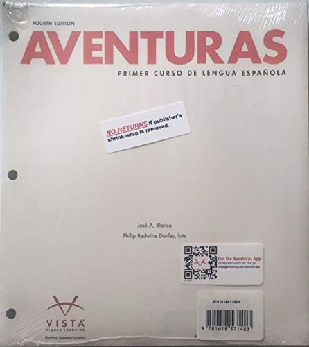 Aventuras 4th Edition, Looseleaf Textbook with Supersite Code